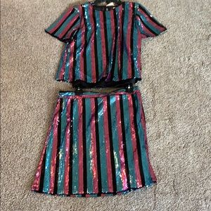 Disco Type Skirt and Top      NWT
